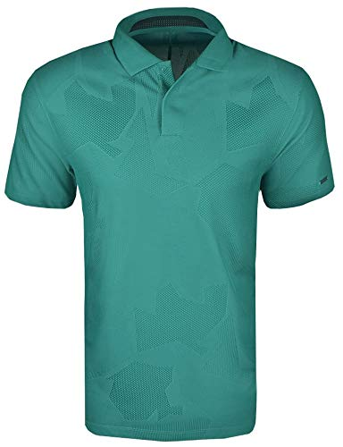 Nike Golf TW Tiger Woods Dri-Fit Camo Jacquard Polo CT3801 -  Verde -  Small