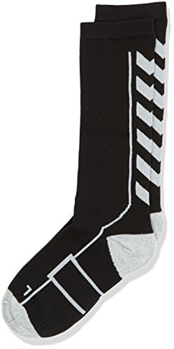 Hummel Kinder Socken TECH INDOOR Socks HIGH, Black/White, 8 (32-35), 21-075-2114