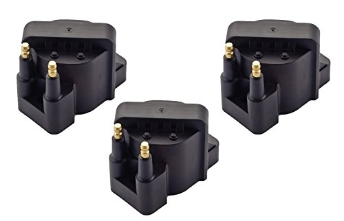 ENA Pack of 3 Ignition Coil Pack compatible with Buick Cadillac Chevrolet Oldsmobile Pontiac Compatible with L4 V6 C849 DR39 5C1058 E530C D555
