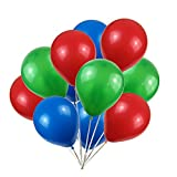 Party Balloons,100-Pack,12-Inch, Red green blue