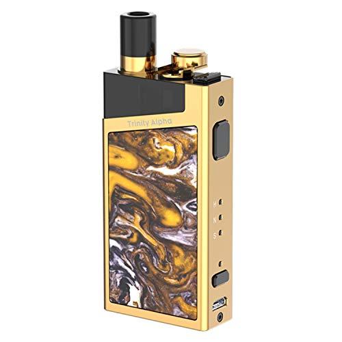 Authentische SMOK Trinity Alpha Kit E Zigarette 30W mit 1000mAh Akku 2.8ml Kein Nikotin, kein Rauchöl (Prism Gold)