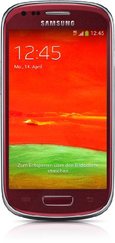 Samsung Galaxy S3 mini (GT-I8200) Smartphone (10,2 cm (4 Zoll) Touchscreen, 5 Megapixel Kamera, 8GB Speicher, microSDHC-Kartenslot, Android 4.2) - Rot