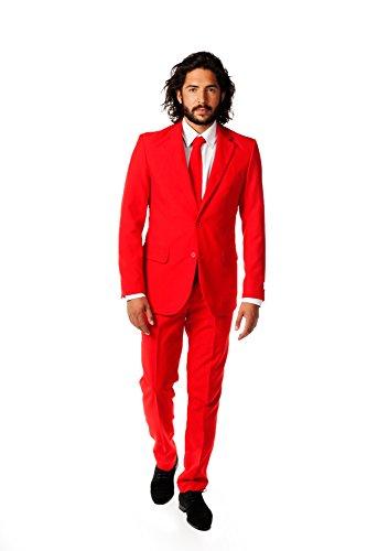 Opposuits Herren OSUI-0014 - Devil Party Kostüm, Rot,Größe 52