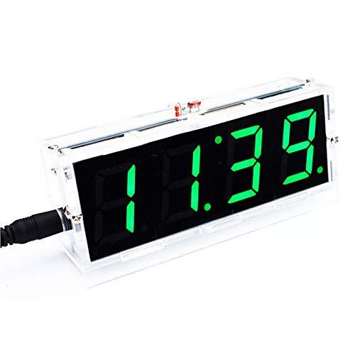 DIY Kit grüne LED elektronische Uhr Mikrocontroller Digitaluhr Zeitthermometer mit PDF Tutorial