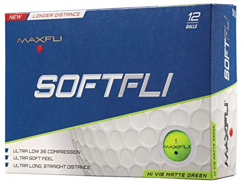 Maxfli SoftFli Matte Golf Balls – Green