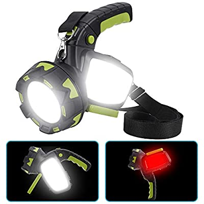 LED Camping Lantern Flashlight Rechargeable, 800 Lumens, 6 Light Modes, 4000 mAh Power Bank, IPX4 Waterproof, Long Lasting LED Spotlight Flashlight for Emergency, Home and Outdoor