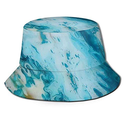 Hdadwy Gorras Pinturas de Olas de Playa Sombrero de Pescador Sombrero de Playa de Pescador Sombrero de Cubo para Acampar, Picnic