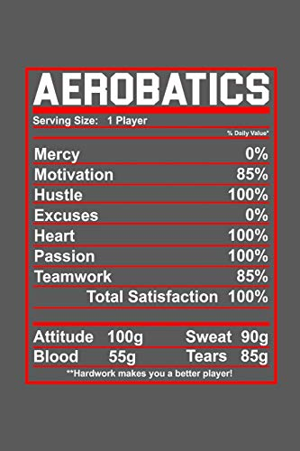 Aerobatics: Notebook | Serving Size: 1 Player Mercy 0% Motivation 85% Hustle 100% Excuses 0% Heart 100% Passion 100% Teamwork 85% Total Satisfaction 100% Attitude 100g Sweat 90g Blood 55g Tears 85g