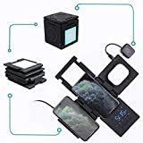 HyperCube Multiple Device 10W Wireless Charger Qi Alarm Clock Sleep Aid Light Compatible with iPhone 11 X/XR/XS/XS Max/8/8+ Apple Watch Airpods Galaxy S10/S9/S9+/S8/S8+ Note 9/S9/9+ Nexus (Black)