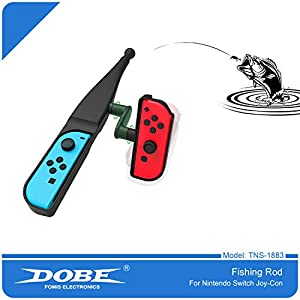 BECROWMUS Fishing Bass Kit, Fishing Rod for Nintendo Switch, Fishing Game Accessories Compatible with Legendary Fishing