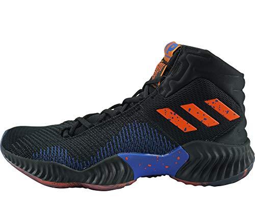 adidas Pro Bounce 2018, Zapatos de Baloncesto Hombre, Negro (Cblack/Ftwwht/Hirblu Cblack/Ftwwht/Hirblu), 36 EU