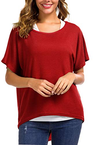 Material: Polyester+Spandex. Breathable and Stretchy, Very Soft and Comfortable tops. Size Notes:Small=(US 4-6),Medium=(US 8-10),Large=(US 12-14),X-Large=(US 14-16),XX-Large=(US 18-20) Features:Cute solid color pullover tunic shirt,designed O neck an...