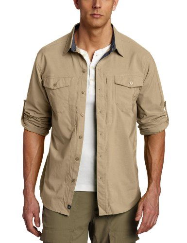 Columbia Cool Creek Stretch Long Sleeve Shirt (Medium, Tusk)