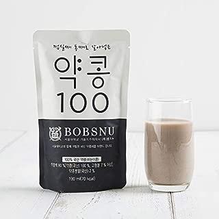 Bobsnu Yak-kong 100% Korean Black Soybean Milk (Original, 20 Pack)