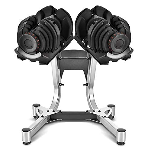 evionsits 90Lbs Adjustable Dumbbells with Stand...