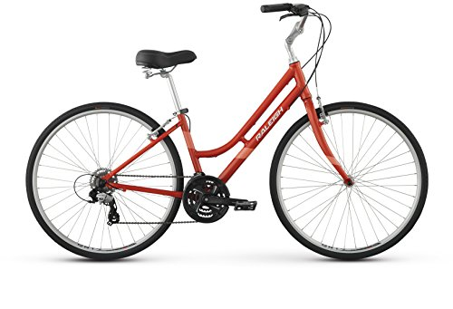 Raleigh Detour 2 Step Thru Comfort Bike, 19' /Lg Frame, Red, 19' / Large