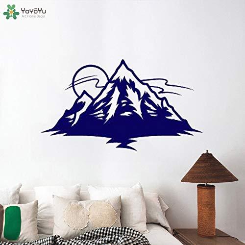 Fotobehang sun mountain creatieve kunst sticker gom indoor verwijderbare jongen slaapkamer poster muursticker ontwerp 150x85cm