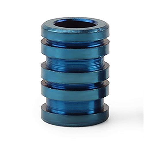 Cuerda de Paracord, EDC Paracord grano pendiente S/L aleación Cuchillo perlas de titanio de la cuerda de la cuerda (Color : Blue L)