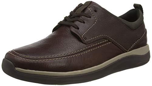 Clarks Garratt Street, Scarpe Stringate Derby Uomo, Marrone (Mahogany Leather Mahogany Leather), 44.5 EU