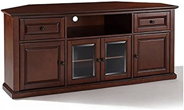 Pemberly Row 60 Corner TV Stand In Vintage Mahogany