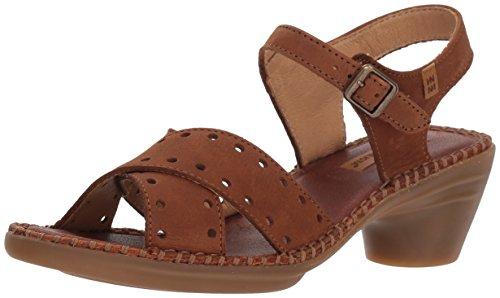 El Naturalista Aqua, Zapatos de tacón con Punta Abierta Mujer, Marrón (Wood), 39 EU