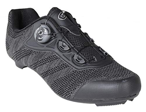 Gavin Pro Road Cycling Shoe, Quick Lace - 3 Bolt Road Cleat Compatible Black