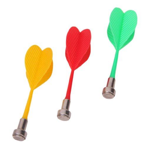 Katigan 3 pzs Dardos Dardos magneticos Juego Plastico Rojo + Verde + Amarillo