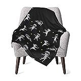 Blanket for Baby Boy Or Girls Cute Halloween Skeleton Baby Blanket Toddler Nap Mat Bed Blankets-Throw Blanket Travel Blanket Pet Blanket Sleeping Blanket