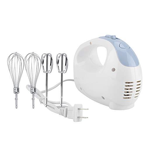 Batidora de mano eléctrica, herramienta de batidor de huevos ajustable de 5 velocidades con 4 batidores para uso de horneado en casa restaurante