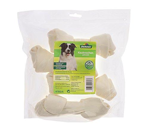 Dehner Hundesnack Kauknochen geknotet, 4 Stück (300 g)