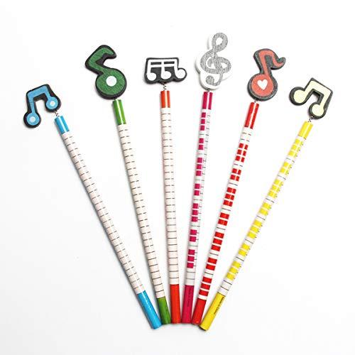 STOBOK 12 stücke Nette Holzbleistifte Musiknoten Form Bleistifte für Kinder Studenten