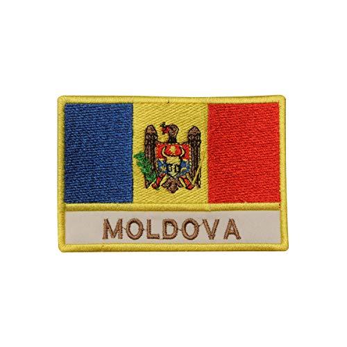 Flicken zum Aufnähen oder Aufbügeln, Motiv: Moldawien-Flagge