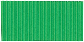 Corobuff Solid Color Corrugated Paper Roll, 48 Inches x 25 Feet, Apple Green