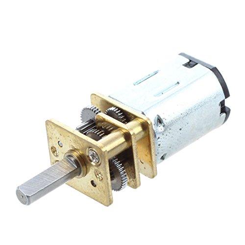 Mogzank Motorreductor Reductor de Velocidad electrica M20 12V 0.06A 80RPM N20 Plata + Oro