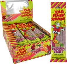 Sour All stores are sold Spasm price Power Passionfruit Candy Packages Straw 24Count