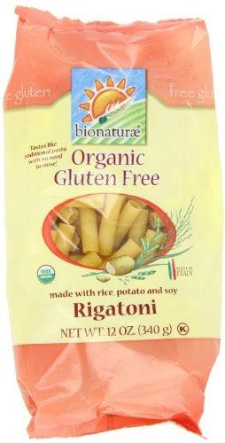Bionaturae Rigatoni Pasta Gluten Free 12 Oz -Pack of 12