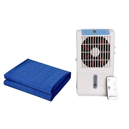 Klimaanlagenventilator, Energiesparventilator, tragbarer Klimaanlagenventilator, Kleiner Kühler, wassergekühlte Matratze 6W (Color : White)
