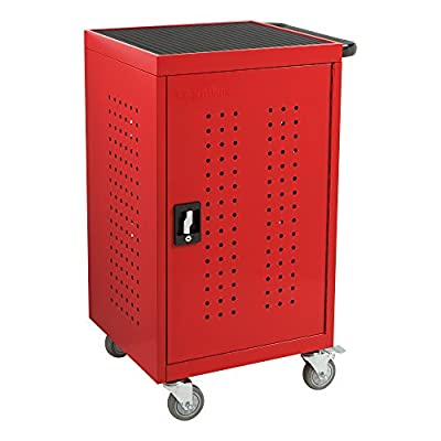 Learniture Structure Series Colorful 30-Outlet Assembled Laptop/Tablet Charging Cart