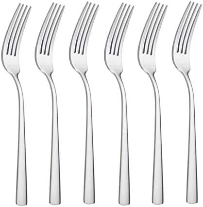 HISSF Salad Forks Stainless Steel 18 0 Salad Forks 6 Pcs 7 08 Inches Home Kitchen Restaurant product image