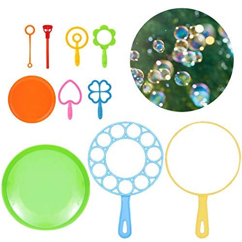 FunPa Seifenblasen Set für Kinder, 10PCS Bubble Wand Set Kreative Bubble Sticks aus Kunststoff für Kinder Kindergeburtstag Partei Spielzeug