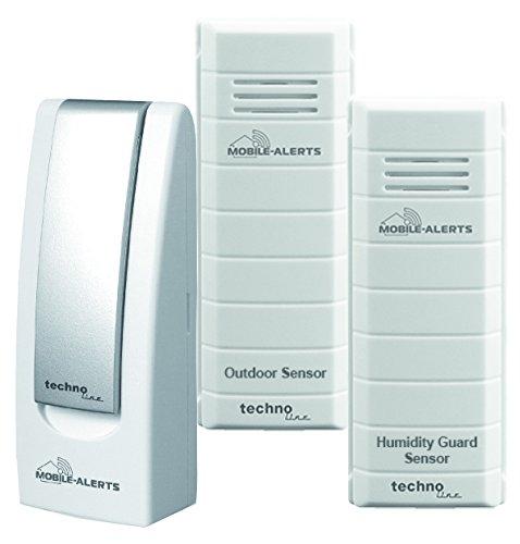Technoline MA 10012 Zusatzsensoren -Set für das Mobile Alerts System, 4 x 2 x 12,5 cm, weiß