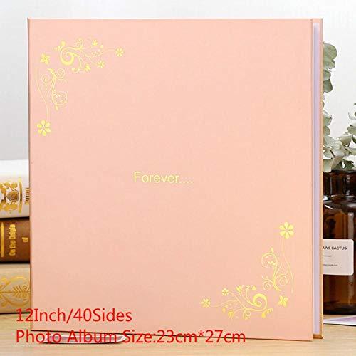 EDCV Fotoalbum 18 Inch 12 Inch DIY Fotoalbum Plakken Familie Reizen Bruiloft Foto Geheugenboek Home Decor Verjaardag Souvenir, 12inchForever