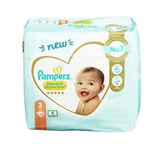 Pampers - Protección Premium, Multi, Talla 3 (6-10 Kg), 28 Pañales