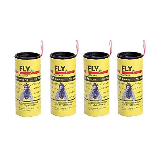 Shoppy Star 4 Rollos/set Mosca Pegajosa Mosquito de papel Trampa anti mosquitos Mosquito volador Asesino Plaga Rechazar Insecto no tóxico