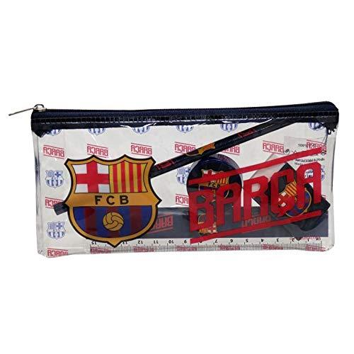 FCB FC Barcelona Portatodo con Material Escolar Estuches portaflautas, Unisex niños, Blaugrana, Estándar