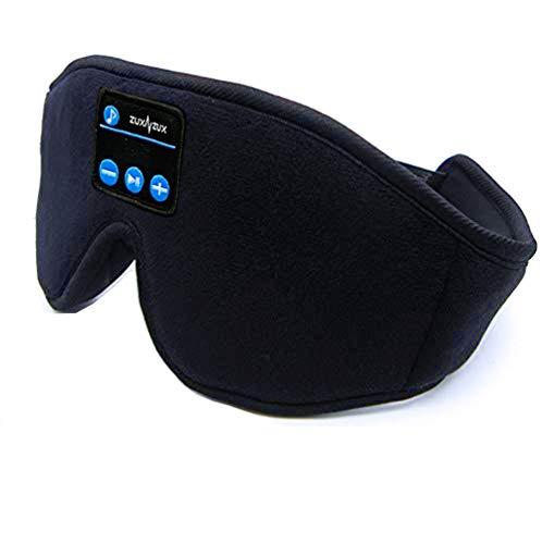 Antifaz para Dormir, Máscara con Auriculares Bluetooth 5.0, Máscara 3D de Seda para Ojos con Altavoces Estéreo, Regalos para el Insomnio, Siesta, Ronquidos, Viajes Aéreos y Relajación