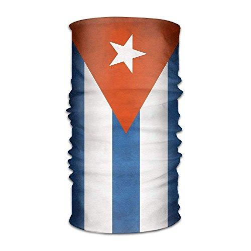 Gjid Unisex Elegante bandiera Cubana a rapida asciugatura Copricapo in microfibra Magia esterna Bandana Scaldacollo Testa avvolgente Sciarpa Fascia Copricapo Coprivaso Elastico Ultra morbido