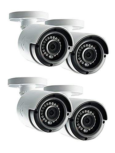 Lorex LAB243B 4MP 2K HD Analog Bullet Security Camera 4-Pack