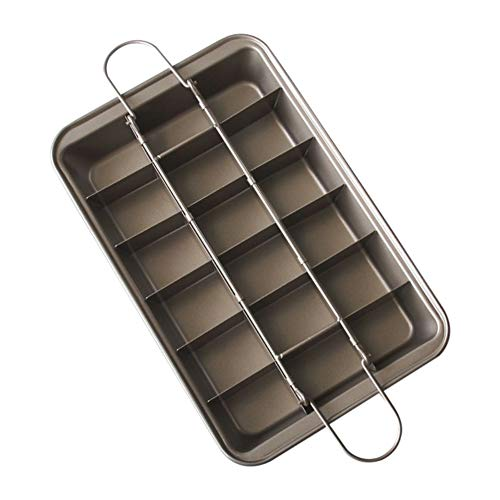 Antihaft-Backblech Blechpfanne Kuchen Backform aus Kohlenstoffstahl mit einer Kapazität von 15 Löchern