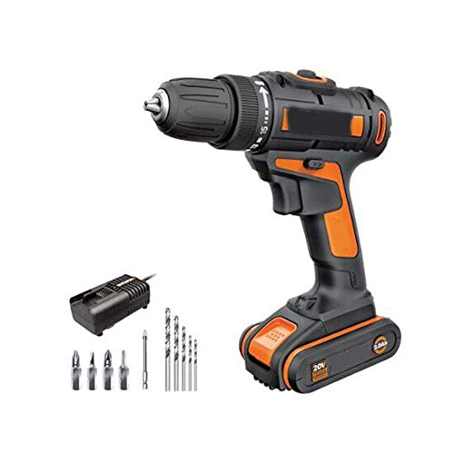 Draadloze Boor, 20V Handheld Drill, Household accu boormachine, elektrische schroevendraaier, Hardware Power Tool (Maat: 20V) lili